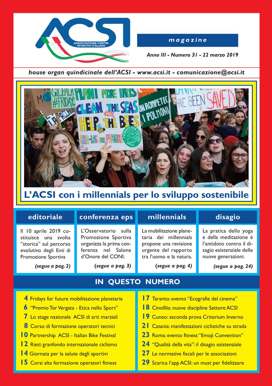 08f2a8cd75108 ACSI Magazine - numero 31 - 22 marzo 2019