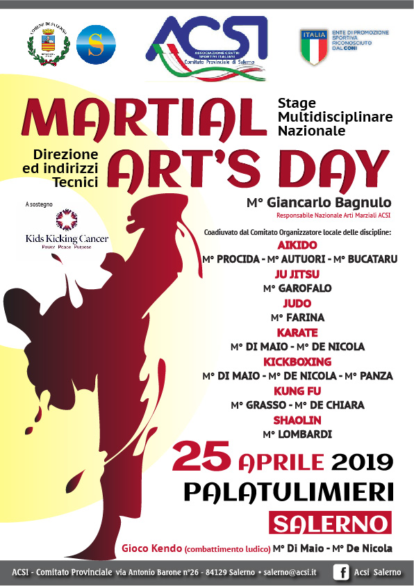 "SALERNO, TUTTO PRONTO PER IL ""MARTIAL ART'S DAY"""