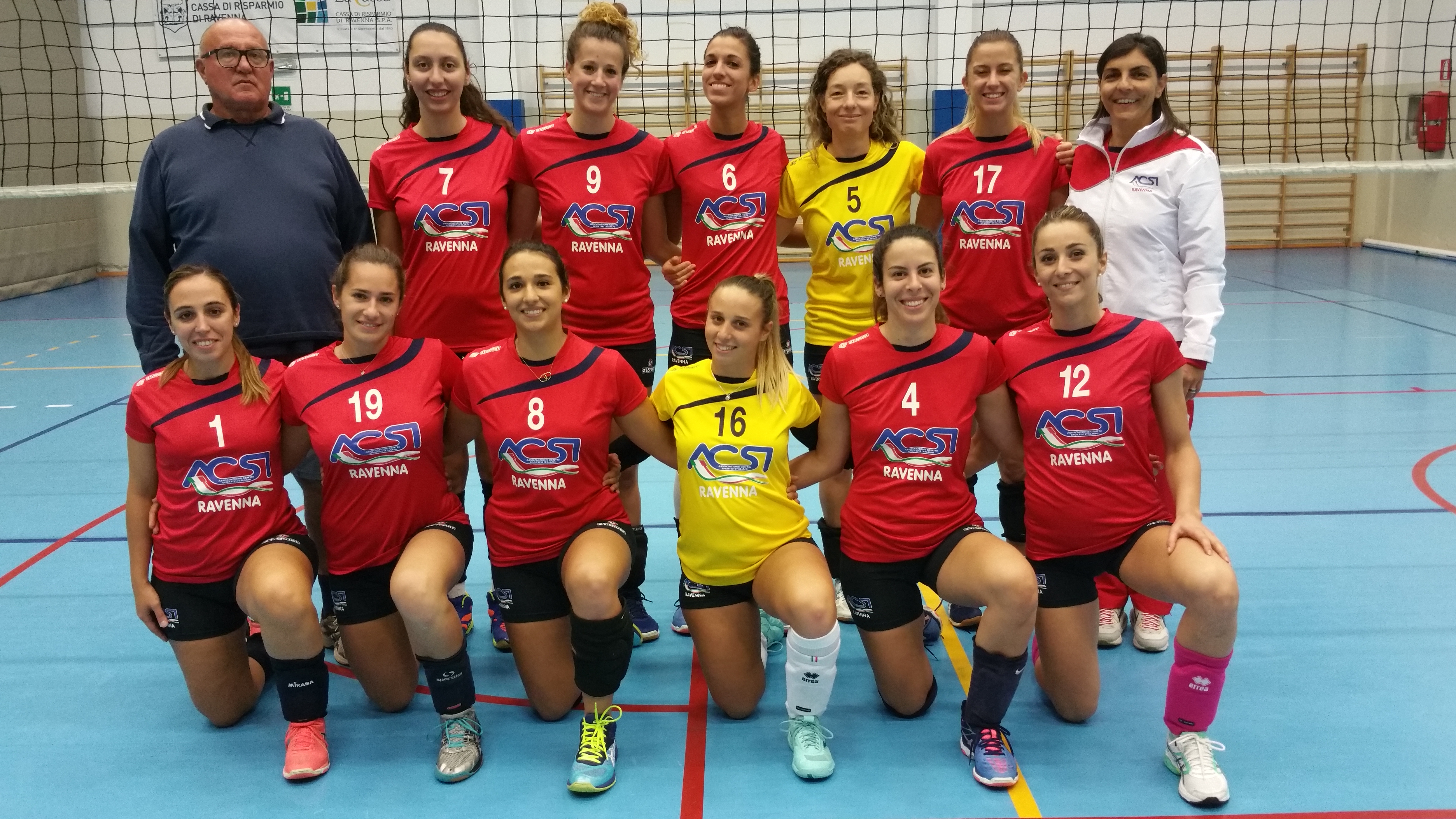 VOLLEY, RIPARTE L'AVVENTURA DELL'ACSI RAVENNA