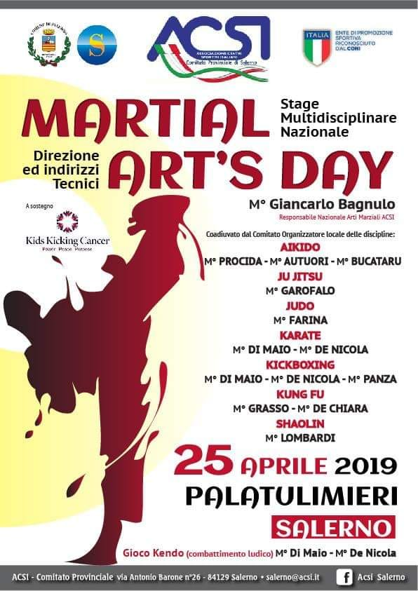 MARTIAL ARTS' DAY: L'ACSI SALERNO SI FA GRANDE